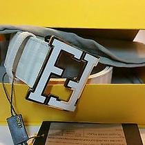 White Fendi College Belt Mint Condition Photo