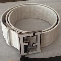 White Fendi College Zucca Ff Men's Belt 95 Cm Photo