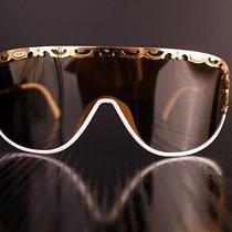 White - Gold Vintage Sunglasses Luxury French Brand Cd Model 2501 Photo