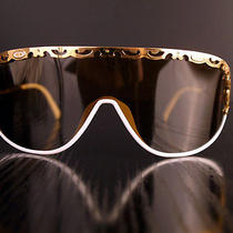 White - Gold Vintage Sunglasses Luxury French Brand Cd Model 2501 Photo