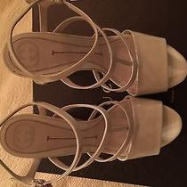 White Gucci Summer Wedges Photo