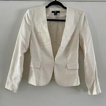 White h&m Fitted Business Blazer Womens W/ Pockets Size 4 Photo