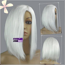 White Heat Styleable No Bang Short Cosplay Wigs Free Shipping Kk21  Photo