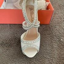 White High Heels With Diamond Accents Photo