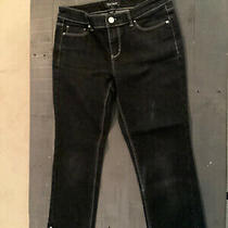 White House Black Market Blanc Crop Leg Jeans Women's Size 2 Black Denim. Euc Photo