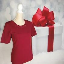 White House Black Market Cutout Detail Knit Top Express Red Size Small Blouse   Photo