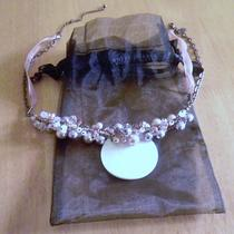 White House Black Market Mother of Pearl Necklace With Gift Bag  Photo