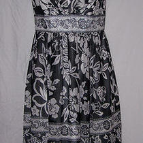 White House Black Market Sz 4 Strapless Chiffonlined Dress Party/fancy Photo
