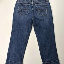 White House Black Market Whbm Blanc Denim Cuff Crop Denim Jeans Size 4 Photo