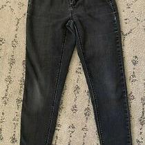 White House Black Market Women's Stretchy Gray Skinny Leg Ankle Jeans Size Xs Photo
