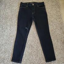 White House Black Market Womens Size 10 Skinny Jeans Legging Blue Dark . Photo