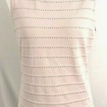 White House Black Market Womens Top Sleeveless Pink Blush Rayon Nylon Medium Photo