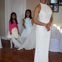 White/ivory Wedding Dress Size 8 Brand Davis Bridal Photo
