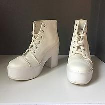 White Jeffrey Campbell Platform Boots Photo