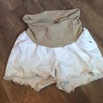White Jessica Simpson Maternity Shorts Size Small Photo