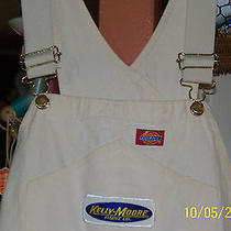 White Kelley Moore Paint Bib by Dickies Photo