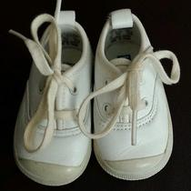 White Leather Keds. Size 1 Infant/baby  Photo