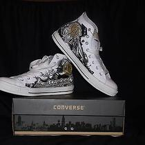 White Leather Limited Edition Converse Sneakers Art Work by Og Abel     Photo