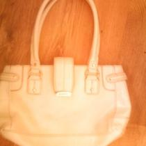 White Leather Liz Claiborne Purse Photo