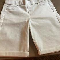 White Liverpool Chloe Pull-on Shorts W/rolled Cuff Photo