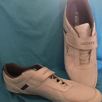 White Mens Lacoste Rippon Puo Us Spm Lace-Up Sneaker Size 12 Euc Shoes  Photo