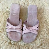White Mountain Blush Pink Slip-on Leather Sandals Photo