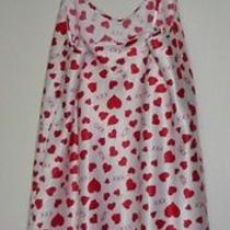 White Nightie With Red Hearts and Xoxo Size Large Photo
