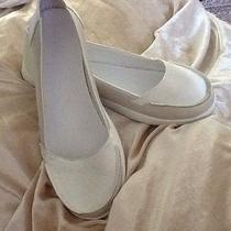 White Satin Comfort Wedding Flats Shoes