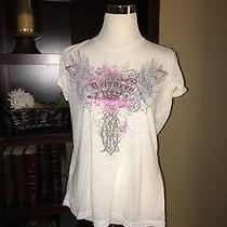 White Sheer Shirt by Express Size Large Photo