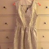 White & Silver Metallic Kensie Dress Photo