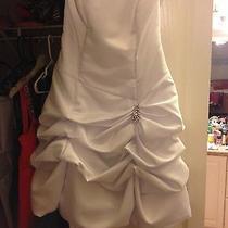 White Strapless Dress Photo