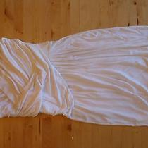 White Strapless Express Junior Dress Small Prom Graduation Party Photo