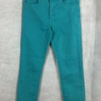 White Stuff Turquoise Green Cropped Jeans Trouser Size 10 Photo