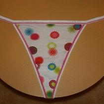 White v-String With Name on Band & Flowers on Front & Back - Large Mqj Photo