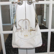 White W/ Pink Inside Coach Purse Gold Hardware Photo