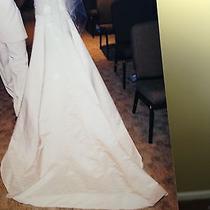 White Wedding Dress and Xoxo Formal Dress Photo
