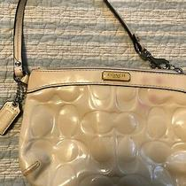 White Wristlet by Coach Used Photo