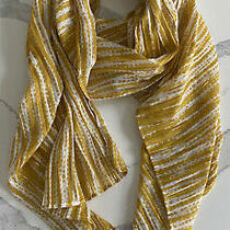 White Yellow & Silver h&m Scarf Photo