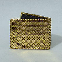 Whiting and Davis Bi-Fold Wallet Billfold Gold Metal Mesh Photo