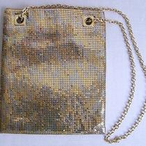 Whiting and Davis Company Cute Gold and Silver Mesh Flat Bag Made Is Usa  Photo