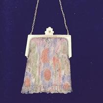 Whiting and Davis Dresdan Baby Mesh Purse With Fluted Fringe Photo