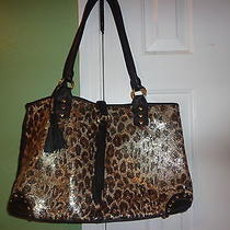 Whiting and Davis Evening/holiday   Leopard Print  New Photo