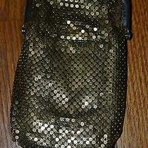 Whiting and Davis Gold Chainmail Cigarette Holder With Lighter Pocket - Antique Photo