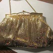 Whiting and Davis Gold Evening Bag  With Mother Pearl Clasp Photo