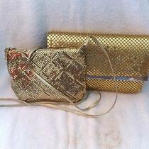 Whiting and Davis Gold Handbag and Vintage Gold Clutch Photo