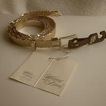 Whiting and Davis Gold Mesh Belt-Circa 1960  New W/tags Photo