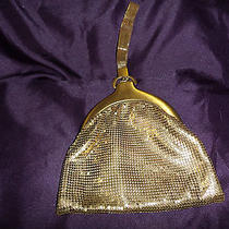 Whiting and Davis Gold Mesh Evening Bag With Mesh Wrist Strap Photo