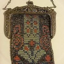 Whiting and Davis Mesh Fashion Purse Bag 1920 Antique Photo