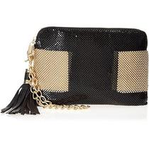 Whiting and Davis Metal Mesh Bubble Color Block Zip Top Clutch Ifs000175923 Photo