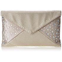 Whiting and Davis Metal Mesh Sparkling Envelope Clutch With Crystals Ifs00017592 Photo